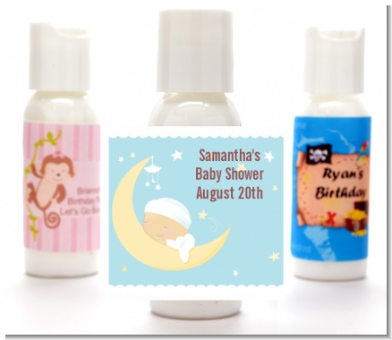 Over The Moon Boy - Personalized Baby Shower Lotion Favors