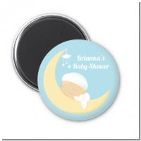 Over The Moon Boy - Personalized Baby Shower Magnet Favors