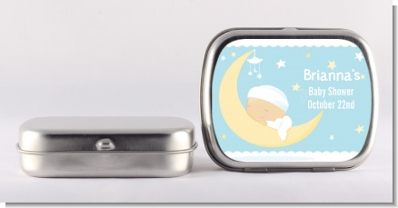 Over The Moon Boy - Personalized Baby Shower Mint Tins