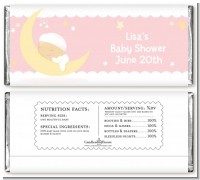 Over The Moon Girl - Personalized Baby Shower Candy Bar Wrappers