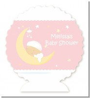 Over The Moon Girl - Personalized Baby Shower Centerpiece Stand