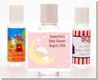 Over The Moon Girl - Personalized Baby Shower Hand Sanitizers Favors