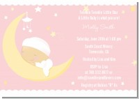 Over The Moon Girl - Baby Shower Invitations
