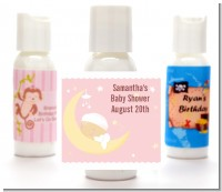 Over The Moon Girl - Personalized Baby Shower Lotion Favors