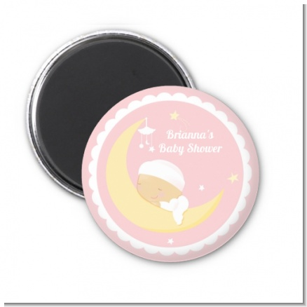Over The Moon Girl - Personalized Baby Shower Magnet Favors