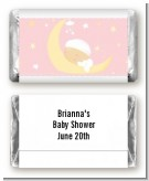 Over The Moon Girl - Personalized Baby Shower Mini Candy Bar Wrappers