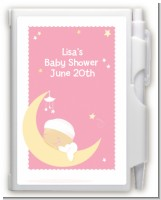Over The Moon Girl - Baby Shower Personalized Notebook Favor