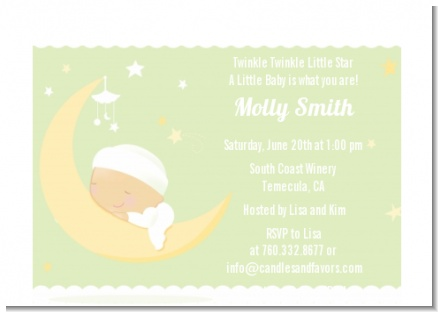 Over The Moon - Baby Shower Petite Invitations