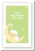 Over The Moon - Custom Large Rectangle Baby Shower Sticker/Labels