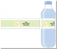 Over The Moon - Personalized Baby Shower Water Bottle Labels