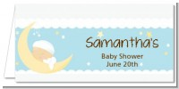Over The Moon Boy - Personalized Baby Shower Place Cards