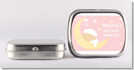 Over The Moon Girl - Personalized Baby Shower Mint Tins