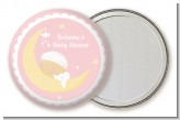 Over The Moon Girl - Personalized Baby Shower Pocket Mirror Favors