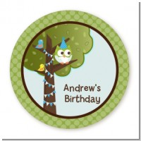 Owl Birthday Boy - Personalized Birthday Party Table Confetti