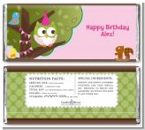 Owl Birthday Girl - Personalized Birthday Party Candy Bar Wrappers