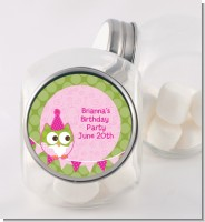Owl Birthday Girl - Personalized Birthday Party Candy Jar