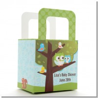 Owl - Look Whooo's Having A Boy - Personalized Baby Shower Favor Boxes