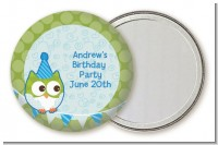 Owl Birthday Boy - Personalized Birthday Party Pocket Mirror Favors