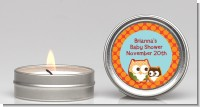 Owl - Fall Theme or Halloween - Baby Shower Candle Favors