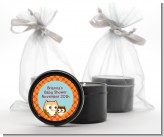 Owl - Fall Theme or Halloween - Baby Shower Black Candle Tin Favors