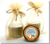 Owl - Fall Theme or Halloween - Baby Shower Gold Tin Candle Favors