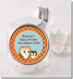 Owl - Fall Theme or Halloween - Personalized Baby Shower Candy Jar