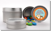 Owl - Fall Theme or Halloween - Custom Baby Shower Favor Tins