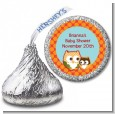 Owl - Fall Theme or Halloween - Hershey Kiss Baby Shower Sticker Labels thumbnail