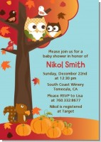 Owl Halloween Baby Shower invitations