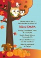 Owl - Fall Theme or Halloween - Baby Shower Invitations thumbnail