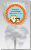 Owl - Fall Theme or Halloween - Personalized Baby Shower Lollipop Favors