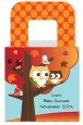 Owl - Fall Theme or Halloween - Personalized Baby Shower Favor Boxes thumbnail