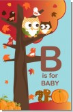 Owl - Fall Theme or Halloween - Personalized Baby Shower Nursery Wall Art