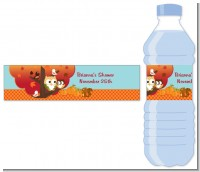 Owl - Fall Theme or Halloween - Personalized Baby Shower Water Bottle Labels