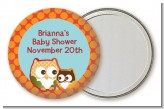Owl - Fall Theme or Halloween - Personalized Baby Shower Pocket Mirror Favors