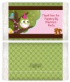 Owl Birthday Girl - Personalized Popcorn Wrapper Birthday Party Favors thumbnail