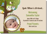 Owl - Look Whooo's Having A Baby - Birth Announcement Photo Card