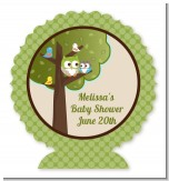 Owl - Look Whooo's Having A Baby - Personalized Baby Shower Centerpiece Stand