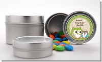 Owl - Look Whooo's Having A Baby - Custom Baby Shower Favor Tins