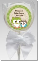 Owl - Look Whooo's Having A Baby - Personalized Baby Shower Lollipop Favors