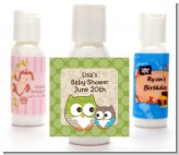 Owl - Look Whooo's Having A Baby - Personalized Baby Shower Lotion Favors