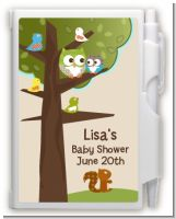 Owl - Look Whooo's Having A Baby - Baby Shower Personalized Notebook Favor