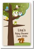 Owl - Look Whooo's Having A Baby - Custom Large Rectangle Baby Shower Sticker/Labels