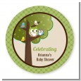 Owl - Look Whooo's Having A Baby - Personalized Baby Shower Table Confetti thumbnail