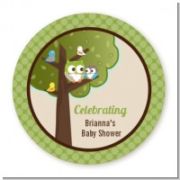 Owl - Look Whooo's Having A Baby - Personalized Baby Shower Table Confetti