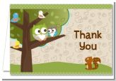 Owl Baby Shower Thank You Cards, Baby Shower Thank You Cards with Owls