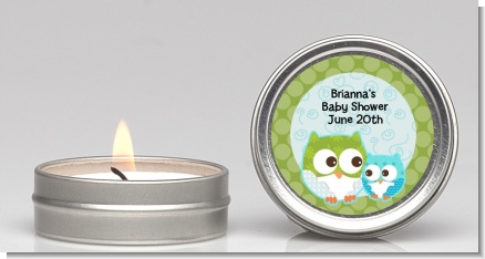 Owl - Look Whooo's Having A Boy - Baby Shower Candle Favors