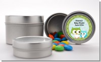 Owl - Look Whooo's Having A Boy - Custom Baby Shower Favor Tins