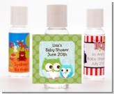 Owl - Look Whooo's Having A Boy - Personalized Baby Shower Hand Sanitizers Favors