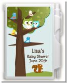 Owl - Look Whooo's Having A Boy - Baby Shower Personalized Notebook Favor